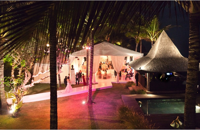 Tented wedding in Bali, Indonesia
