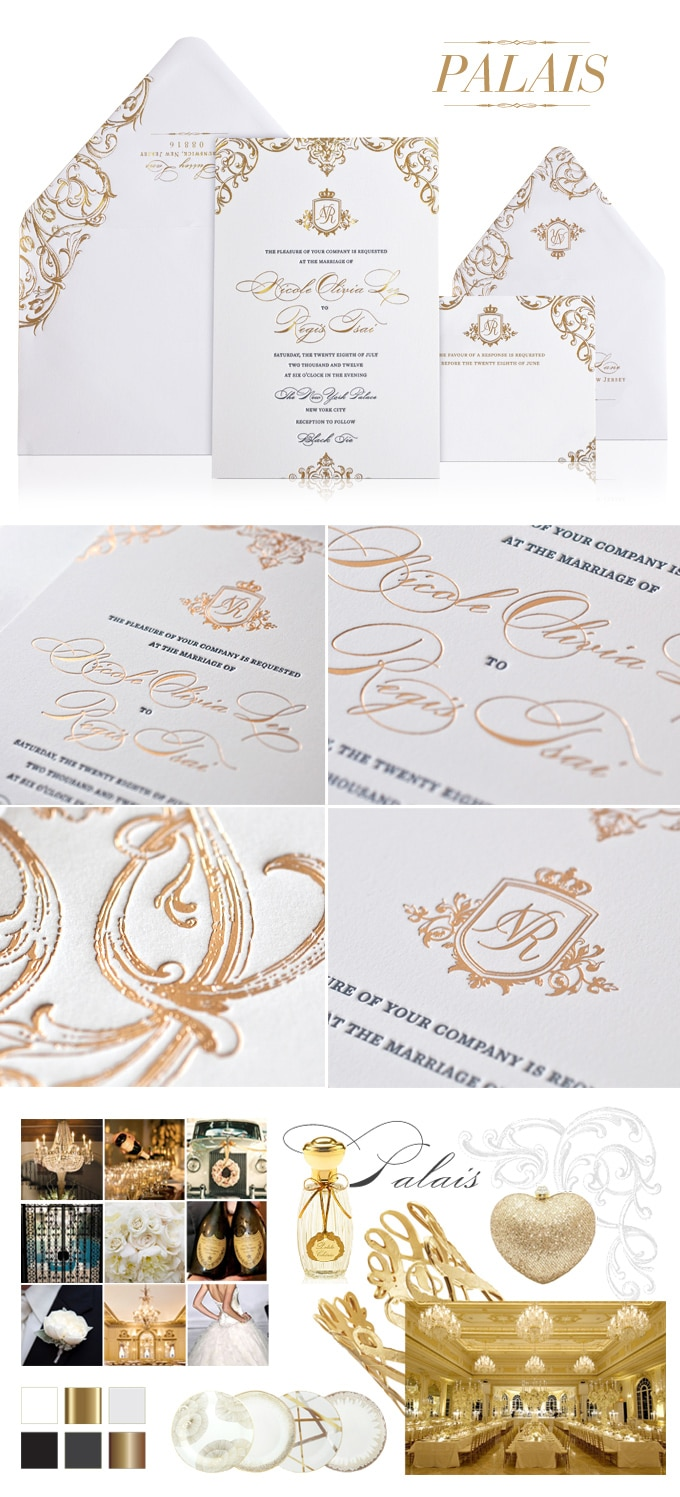 Palais ornate wedding invitation