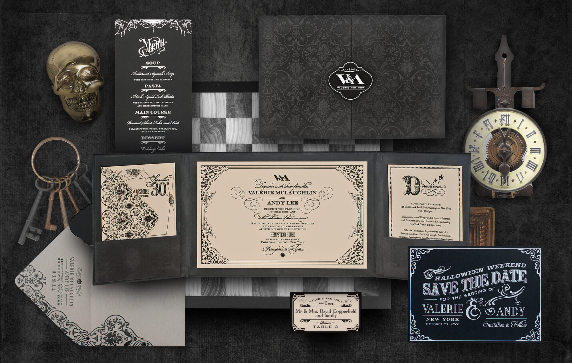 Halloween spooky wedding invitation