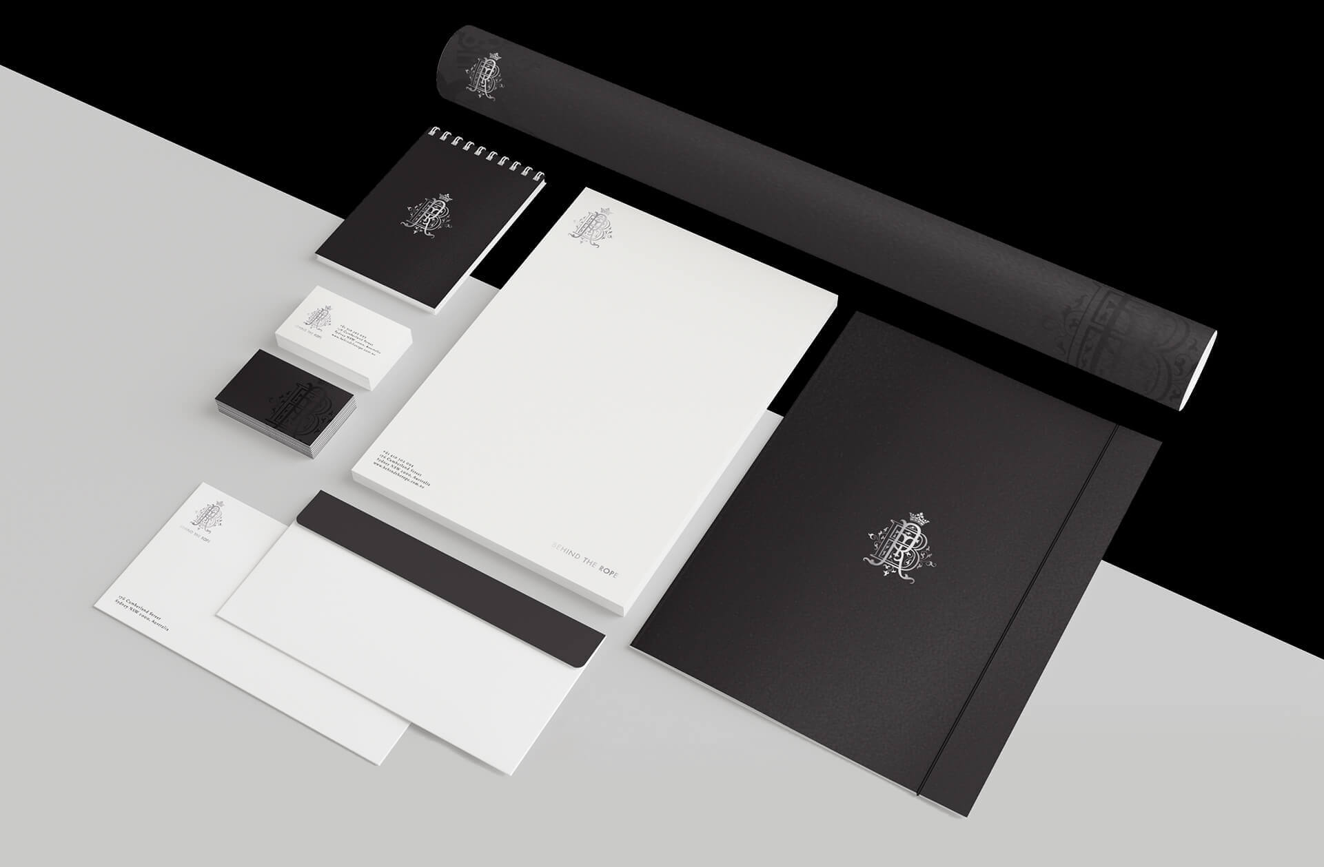 Branded stationery for a lifestyle company